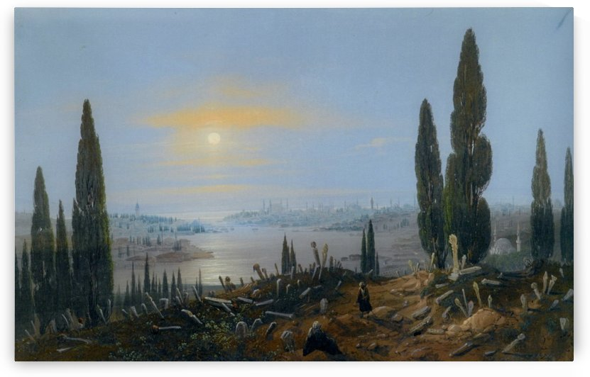 View of Constantinople by moonlight by Carlo Bossoli