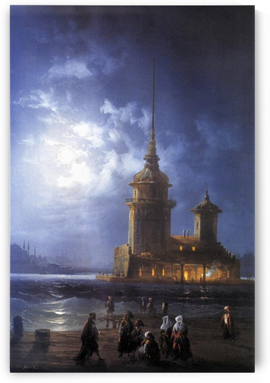 Maiden's Tower, Constantinople by Carlo Bossoli