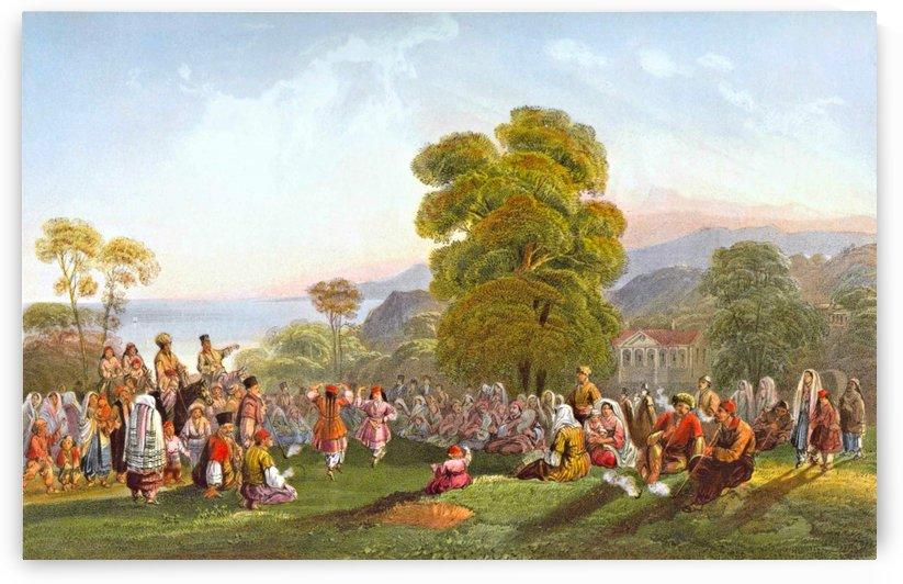 Dance of Tartars by Carlo Bossoli