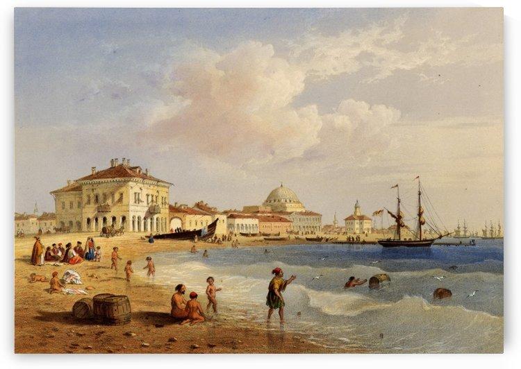 Crimea Eupatoria view taken from the sea-shore by Carlo Bossoli