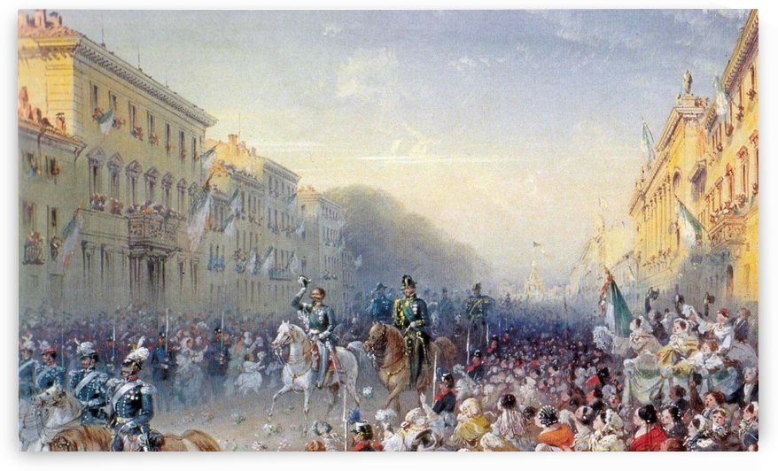 Entrance of Vittorio Emanuele II in Milan by Carlo Bossoli