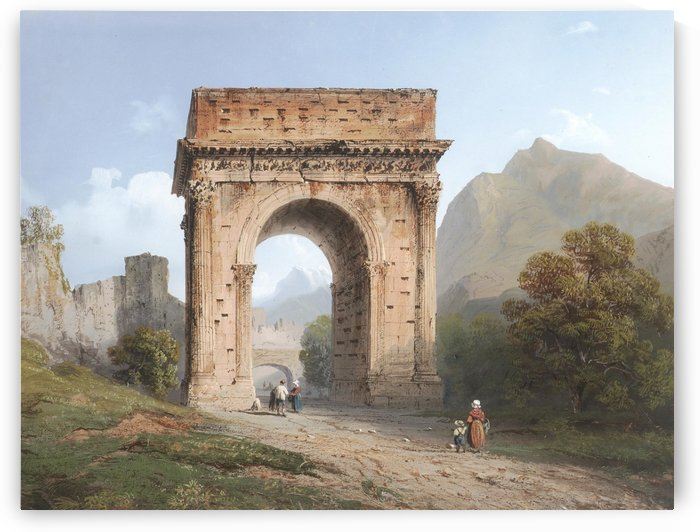 The Arch of Augustus, Italy by Carlo Bossoli