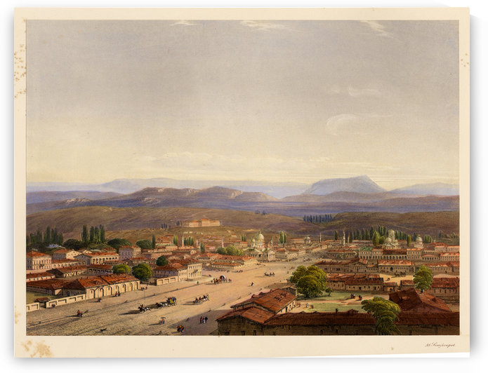 Simferopol, 1856 by Carlo Bossoli