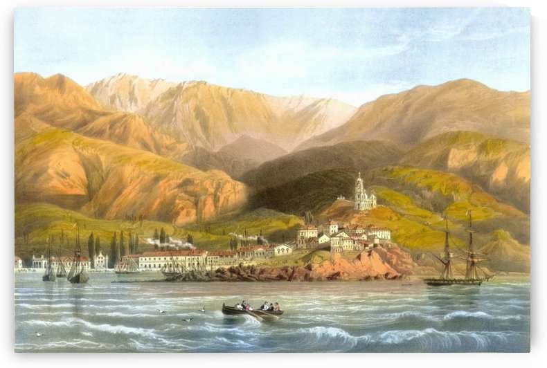 View of Yalta 1856 by Carlo Bossoli
