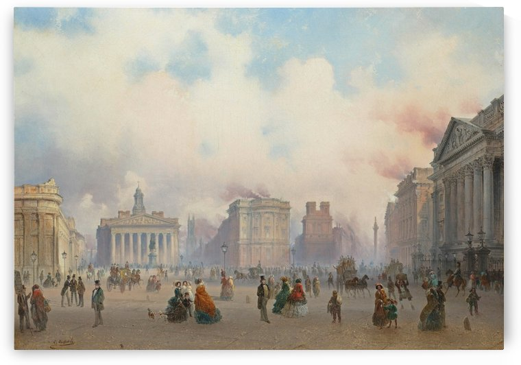 A view of the City of London from Bank by Carlo Bossoli