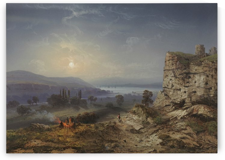 View of the Valley of Inkermann by Carlo Bossoli