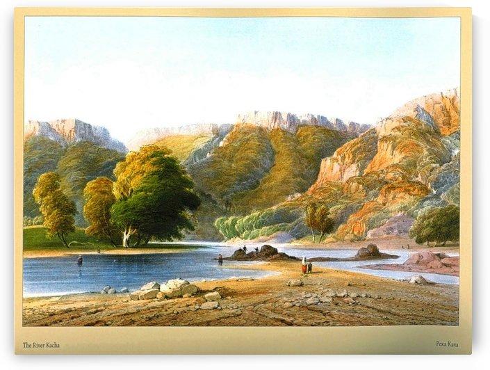 The river Kacha by Carlo Bossoli