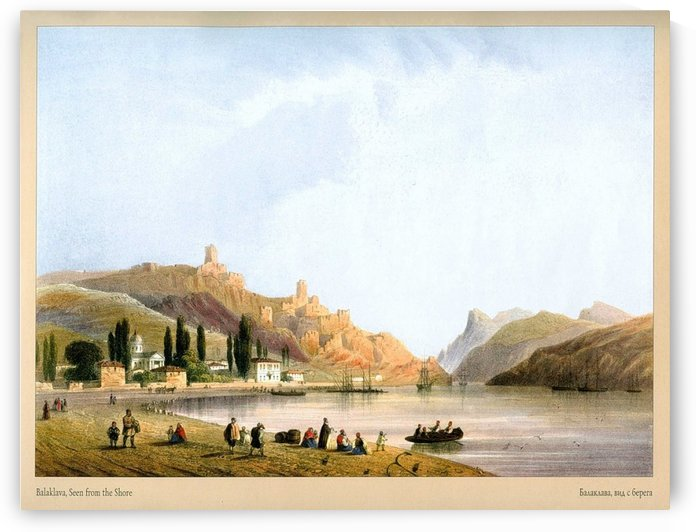 Balaklava, seen from the shore by Carlo Bossoli