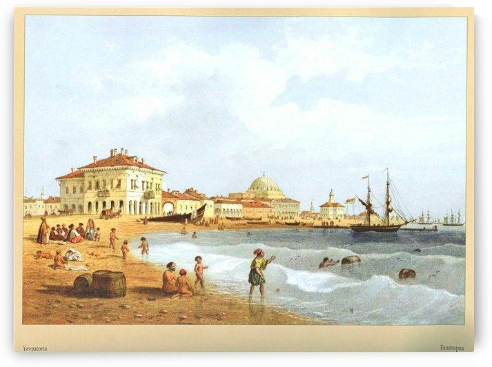 A view of Yevpatoria by Carlo Bossoli
