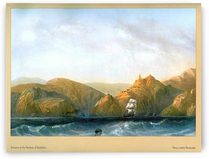 Entrance to the harbour of Balaklava by Carlo Bossoli