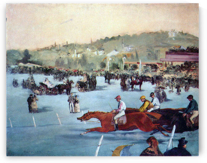 Races at the Bois de Boulogne by Manet by Manet