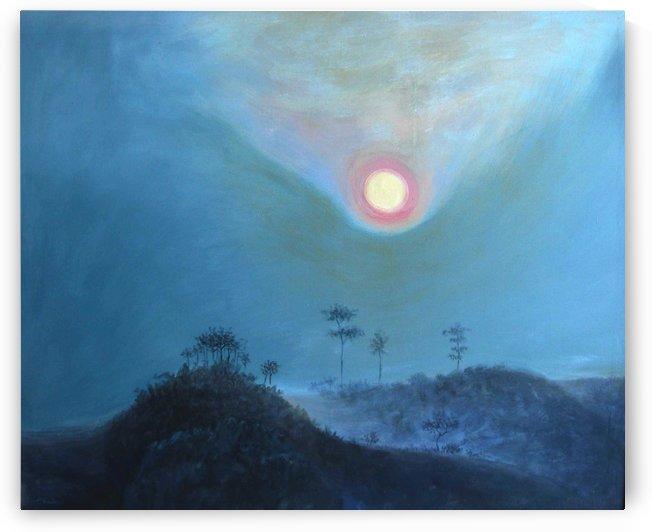 mountain and sun by Pracha Yindee