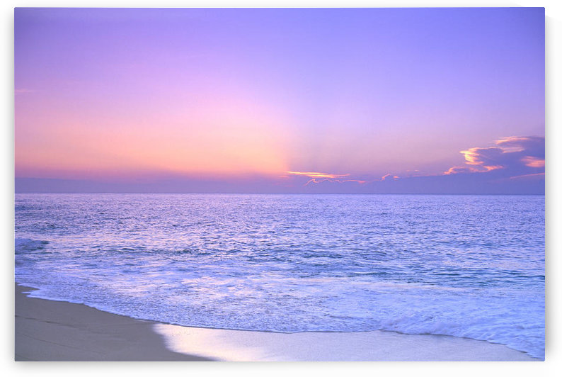 Lavender Sky With Hues Of Pink And Yellow, Shoreline Water To Ocean C1699 by PacificStock