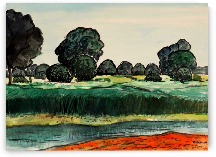 Landscape 6 by Pracha Yindee