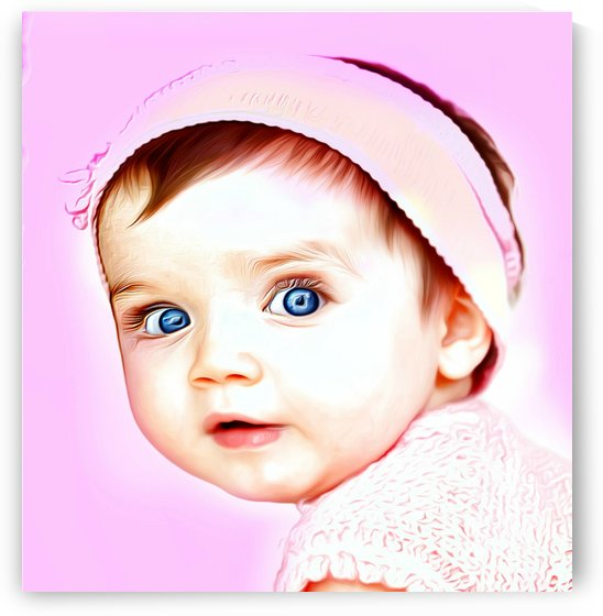 Cute Baby Pic Art by Chazzi R  Davis