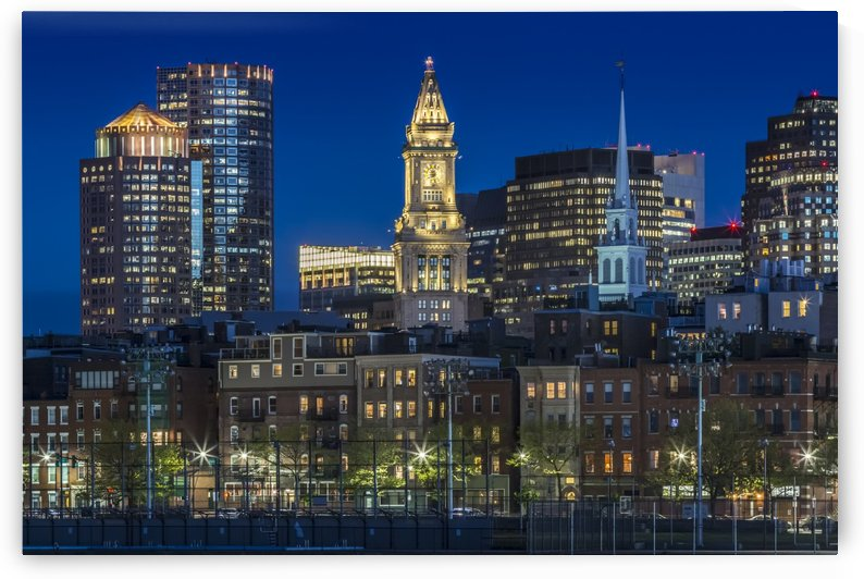 BOSTON Evening Skyline of North End & Financial District by Melanie Viola