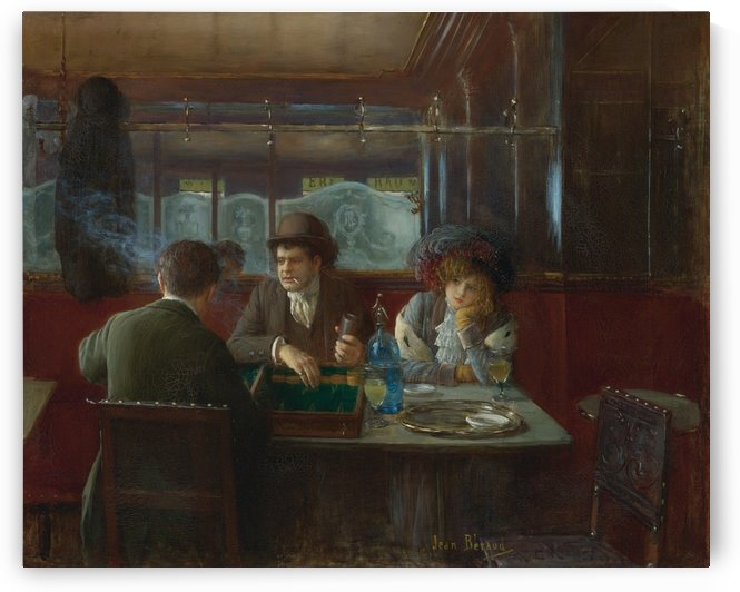 Backgammon at the Cafe by Jean Beraud