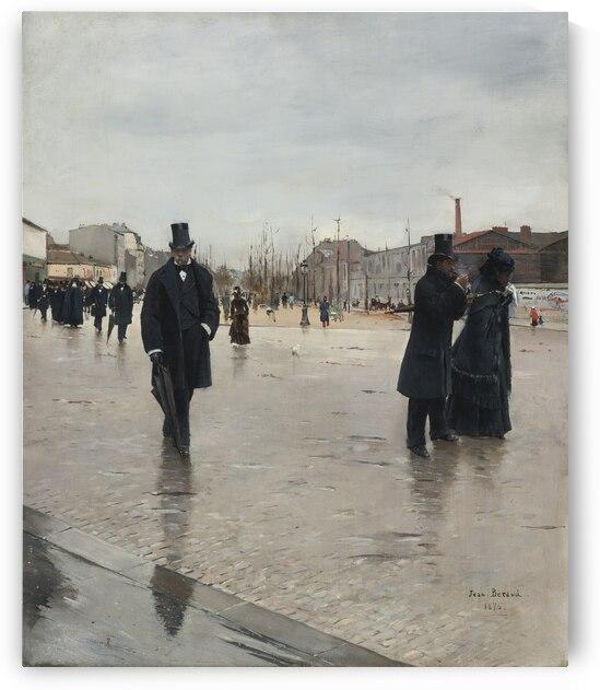 Leaving Montmartre Cemetery by Jean Beraud