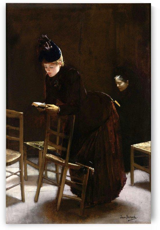 Woman in prayer by Jean Beraud