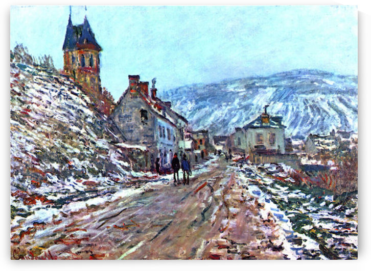 Road to Vetheuil in winter by