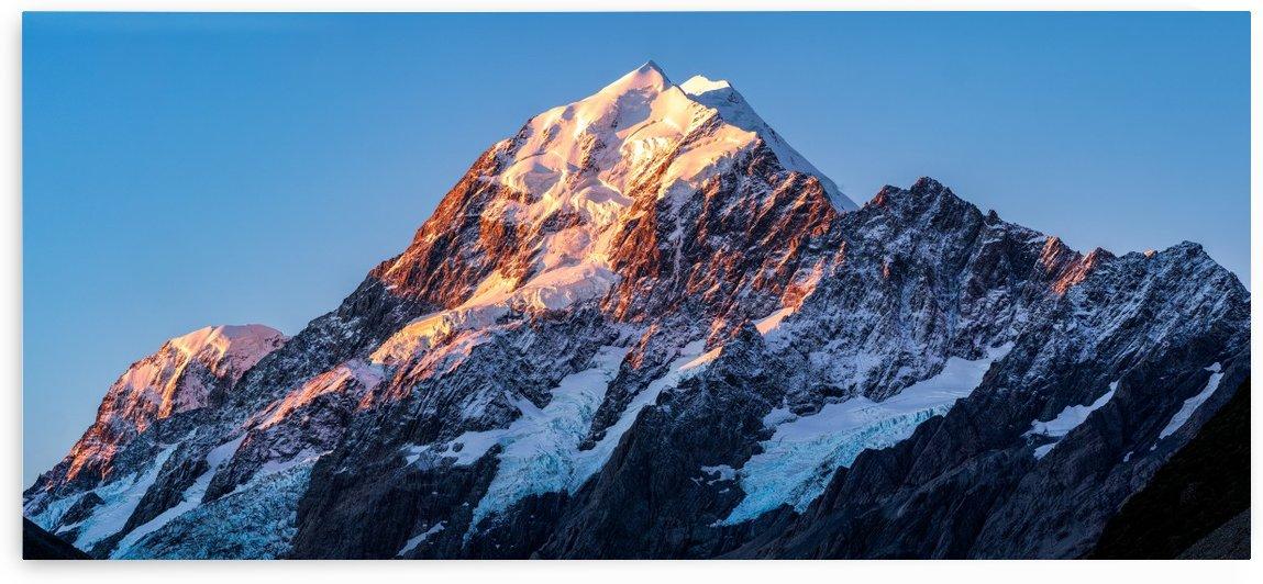 Mt Cook Peak @Sunset  by walter shepherd