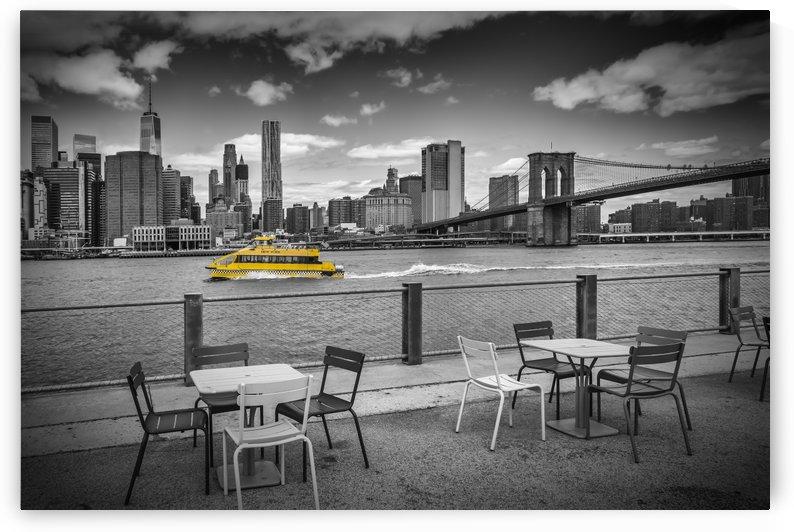 NEW YORK CITY Walking along the River Bank by Melanie Viola
