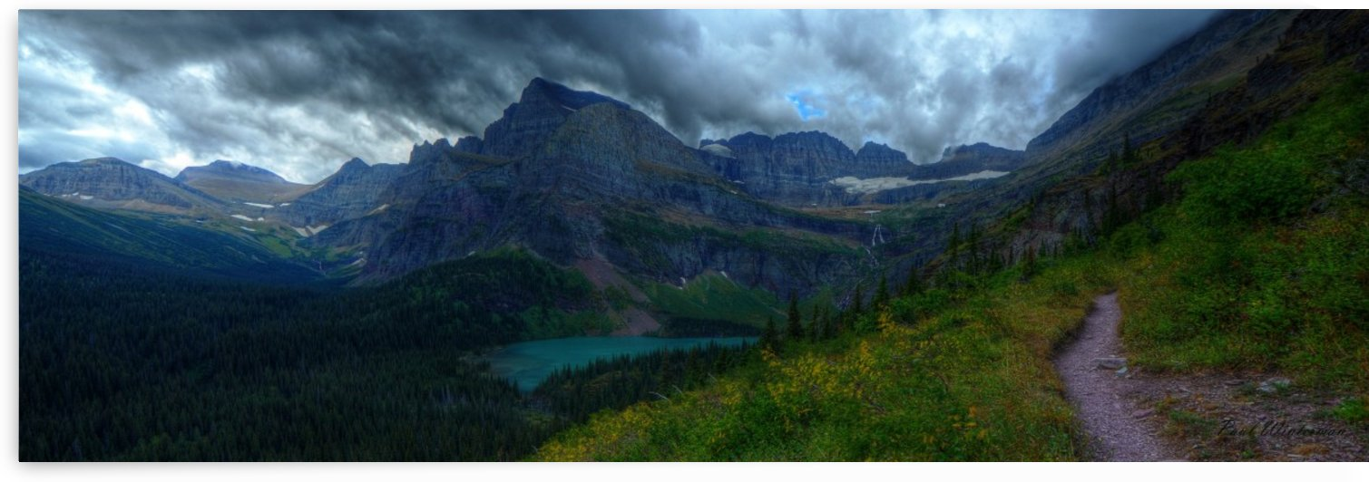 Trail to Grinnell Glacier by Paul Winterman