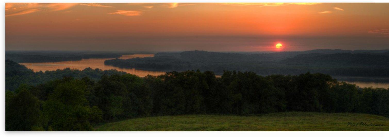 Sunset on the Ohio by Paul Winterman