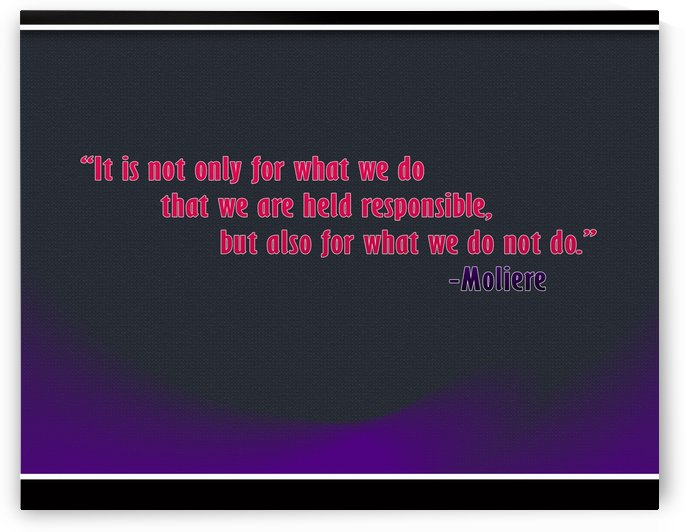 Inspirational Quotes by Moliere - Black Design by ABDUL LATHEEF