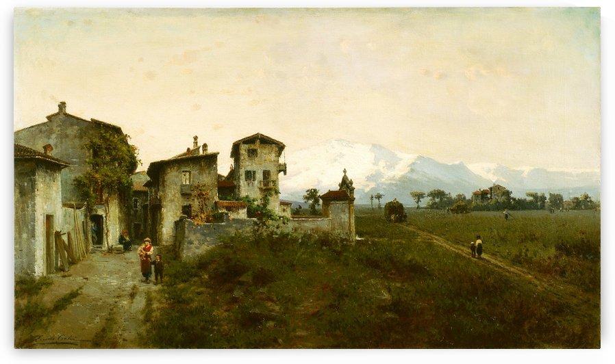 Brughiera lombarda, 1887 by Ercole Calvi