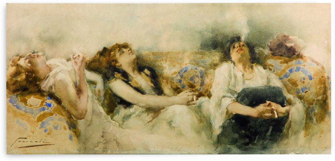 Le fumatrici di hashish by Gaetano Previati
