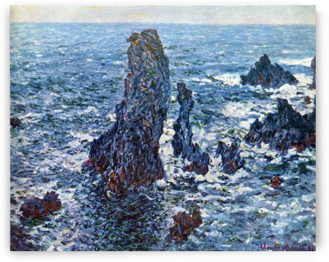Rocks on Belle-Ile (The needles of Port-Coton) by Monet by Monet