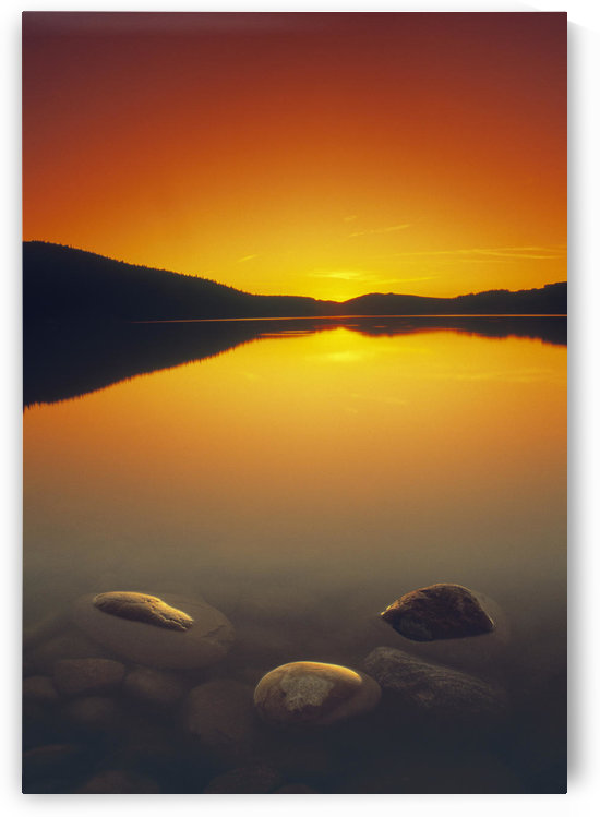 Reesor Lake At Sunset, Cypress Hills Interprovincial Park, Elkwater, Alberta, Canada by PacificStock