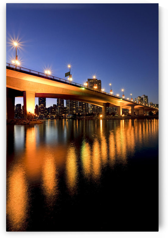 Artist's Choice: View Under Cambie Street Bridge From False Creek To Condominiums Of Yaletown, Vancouver, British Columbia by PacificStock
