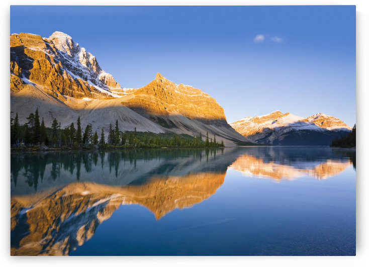 Bow Lake And Crowfoot Mountain At Sunrise, Banff National Park, Alberta by PacificStock
