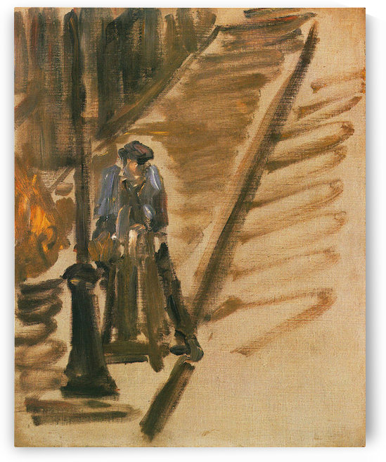 Rue Mossnier with Knife Grinder by Edouard_Manet by Edouard Manet