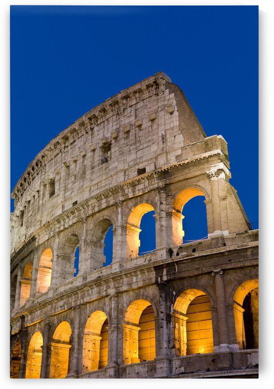 Exterior View Of The Coliseum Amphitheatre At Night, Rome, Italy by PacificStock
