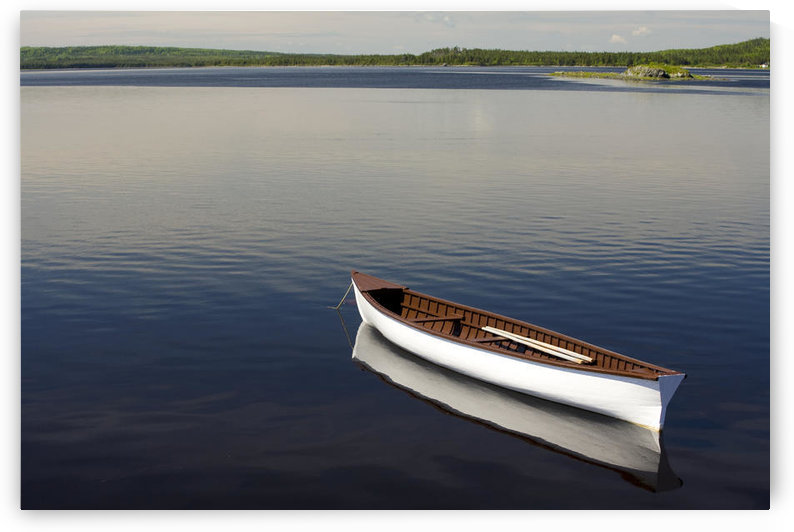 Canoe On Gander River, Gander Bay, Newfoundland And Labrador by PacificStock
