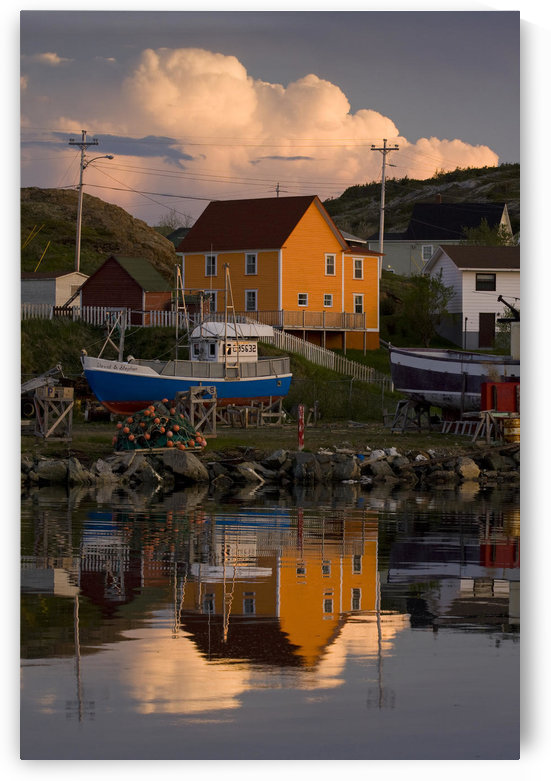 Reflection Of House In Water, Durrell, Newfoundland And Labrador by PacificStock