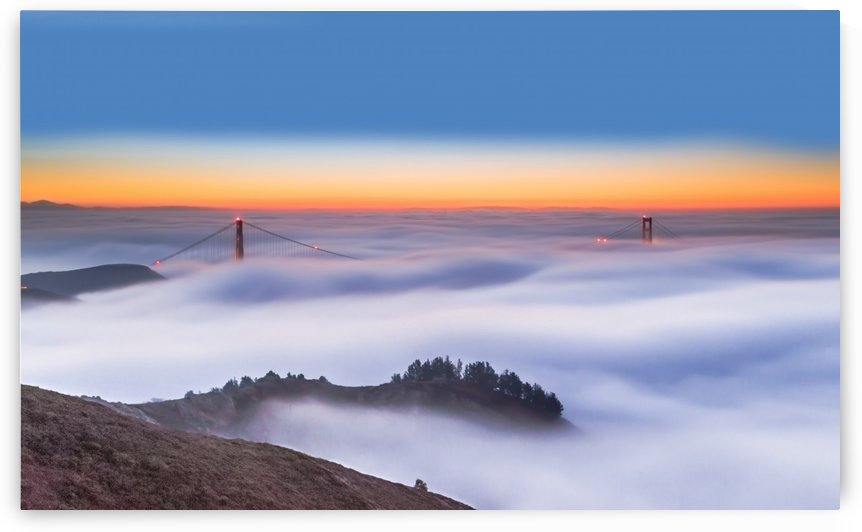The Golden Gate Bridge in the Fog by 1x