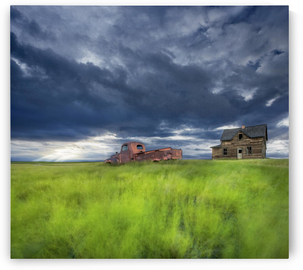 Old Abandonded Truck Near Empress, Saskatchewan by PacificStock