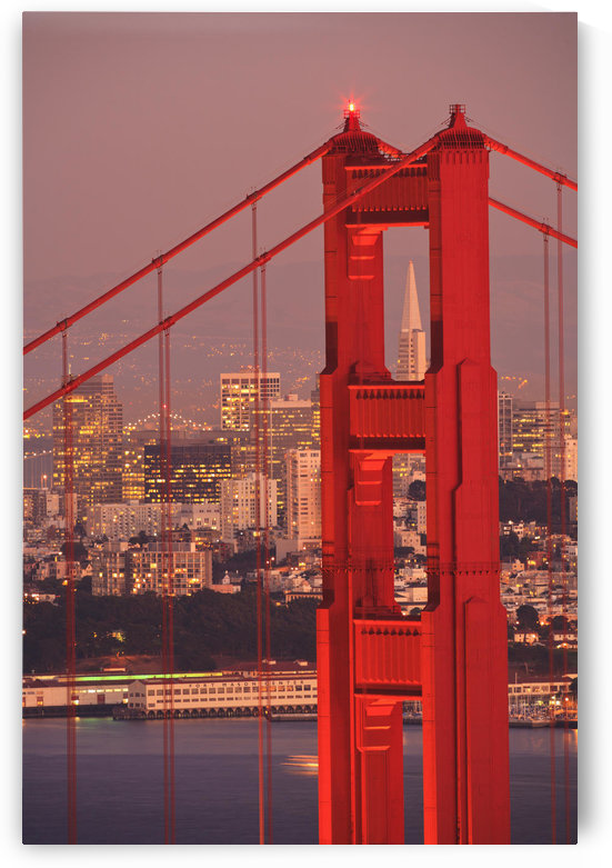 View From Golden Gate National Recreation Area Golden Gate Bridge With City Of San Francisco In The Background; San Francisco California Coast United States Of America by PacificStock