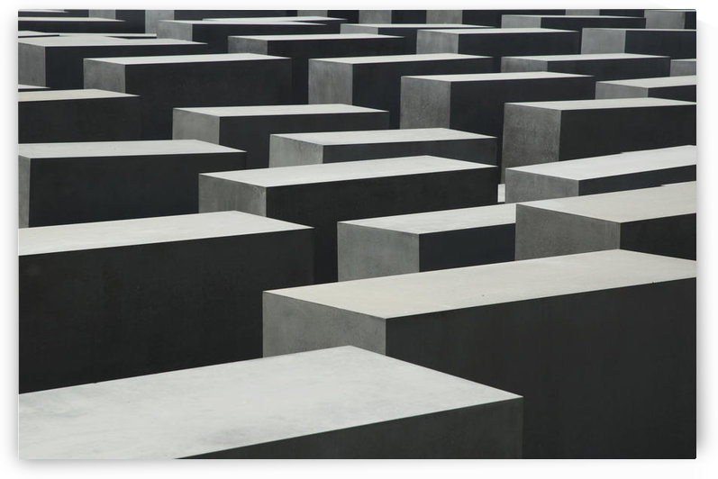 Stelae Of The Memorial To The Murdered Jews Of Europe, Berlin, Germany by PacificStock