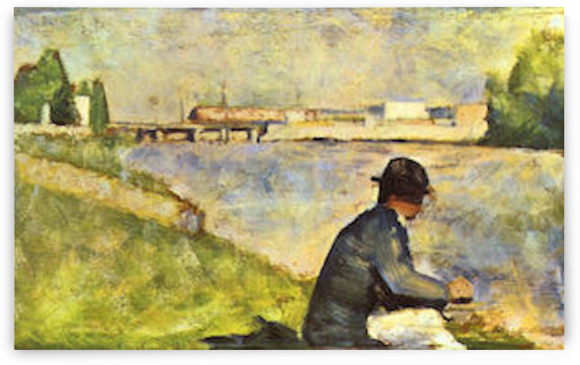 Seated man by Seurat by Seurat