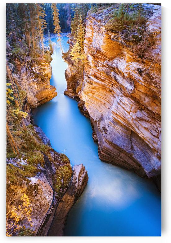 Athabasca Falls At Dusk, Jasper National Park, Alberta by PacificStock