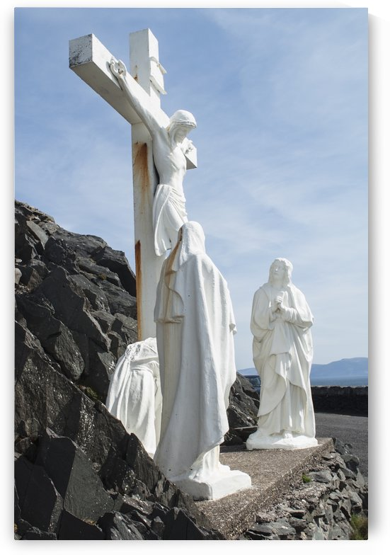 Calvary of the christ sculpture at slea head;Dingle, county kerry, ireland by PacificStock