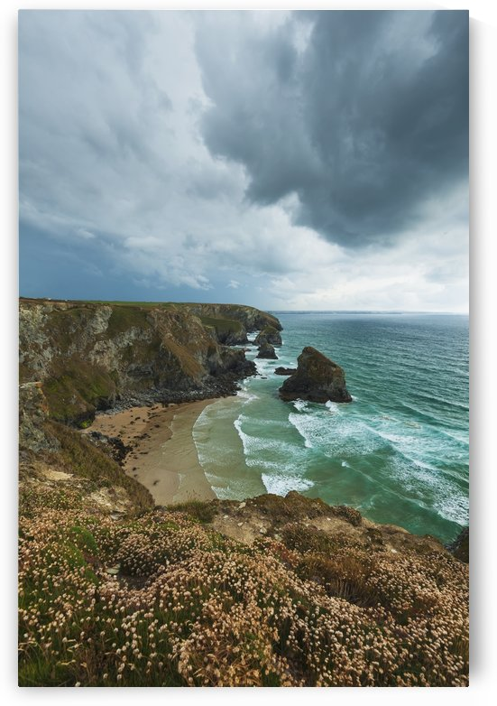 Bedruthan Steps; Cornwall, England by PacificStock