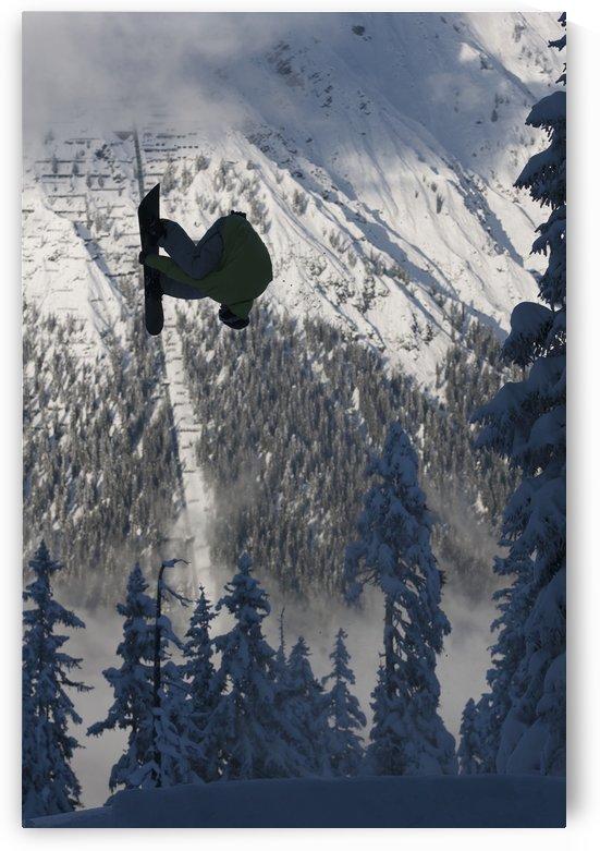 Professional snowboarder, Frederik Kalbermatten, in the Arlberg mountains, Austria by PacificStock