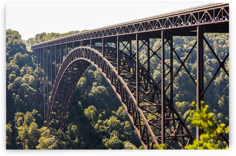 The New River Gorge Bridge is a steel arch bridge 3,030 feet long over the New River Gorge near Fayetteville, in the Appalachian Mountains of the Eastern United States; West Virginia, United States of America by PacificStock