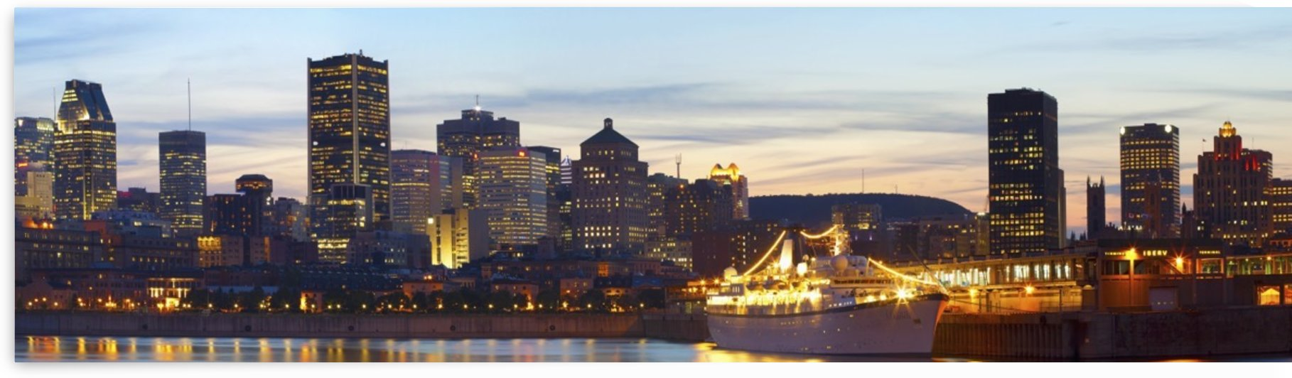 Montreal Skyline At Dusk; Montreal, Quebec, Canada by PacificStock